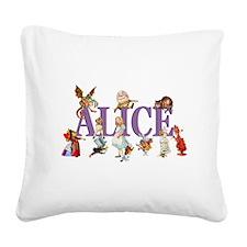 Alice Purple Square Canvas Pillow