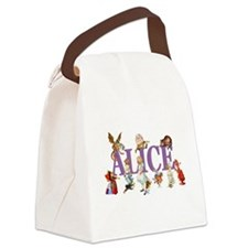 Alice Purple Canvas Lunch Bag