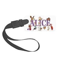 Alice Purple Luggage Tag