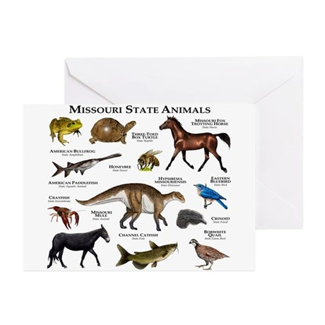 Missouri State Animals Greeting Cards (Pk of 10)
