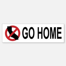 Californians, Go Home Bumper (white) Bumper Sticke