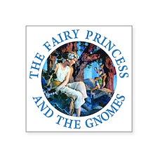 "PRINCESS THE GNOMES_blue.png Square Sticker 3"" x 3"
