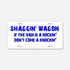 Shaggin Wagon Van Rockin Current Aluminum License