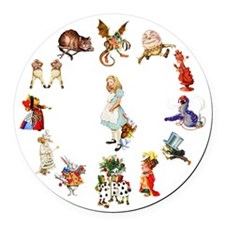Alice through the looking glass Round Car Magnet