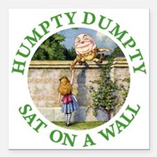 "HUMPTY DUMPTY_green.png Square Car Magnet 3"" x 3"""
