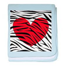 Red Heart in Zebra Stripes baby blanket