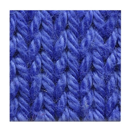 Blue Knitting Swatch Drink Coaster