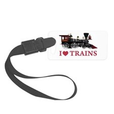 I LOVE TRAINS RED copy.png Luggage Tag