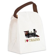 I LOVE TRAINS GOLD copy.png Canvas Lunch Bag