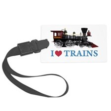 I LOVE TRAINS BLUE copy.png Luggage Tag