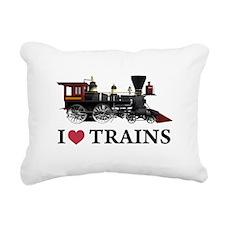 I LOVE TRAINS copy.png Rectangular Canvas Pillow