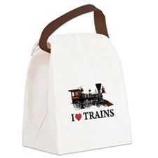 I LOVE TRAINS copy.png Canvas Lunch Bag