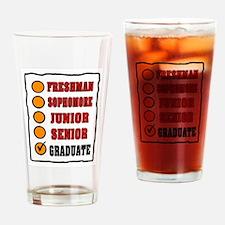GRADUATE SHIRT Drinking Glass