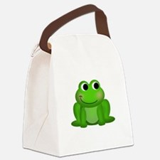 Cute Froggy Canvas Lunch Bag