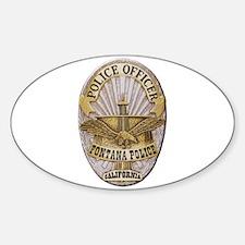 Fontana Police Decal