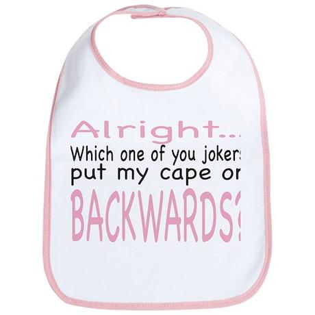 Backwards Cape Pink Bib