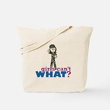 Army Girl Tote Bag