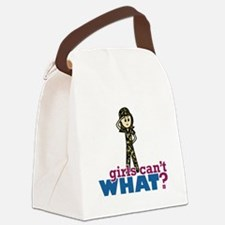 Army Girl Canvas Lunch Bag