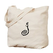 Cafe Latte Monogram J Tote Bag
