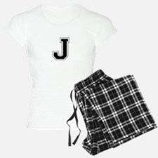 Collegiate Monogram J Pajamas