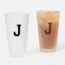 Collegiate Monogram J Drinking Glass