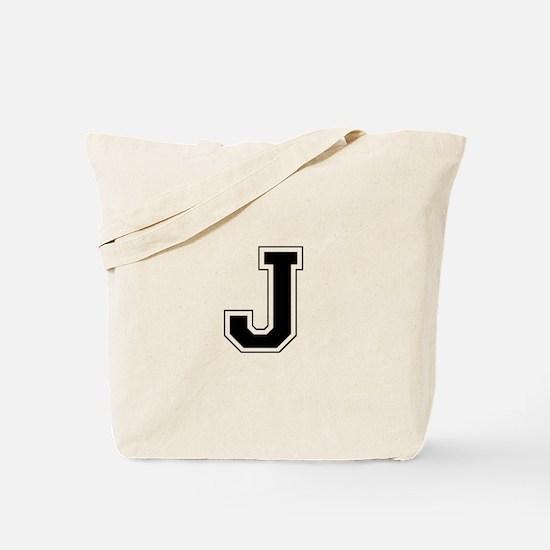 Collegiate Monogram J Tote Bag