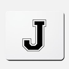 Collegiate Monogram J Mousepad