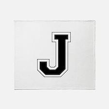 Collegiate Monogram J Throw Blanket