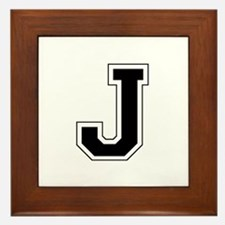 Collegiate Monogram J Framed Tile