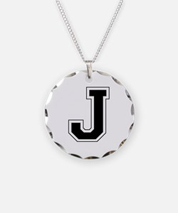 Collegiate Monogram J Necklace