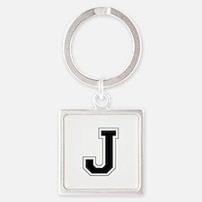 Collegiate Monogram J Square Keychain