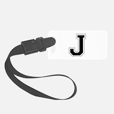 Collegiate Monogram J Luggage Tag