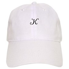 A Yummy Apology Monogram K Baseball Baseball Cap