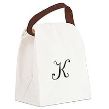 A Yummy Apology Monogram K Canvas Lunch Bag