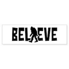Believe in the Sasquatch Bumper Car Sticker