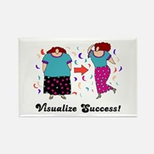 Visualize Success Diet Rectangle Magnet