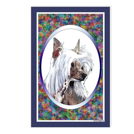 Chinese Crested Designer Postcards (Package of 8)