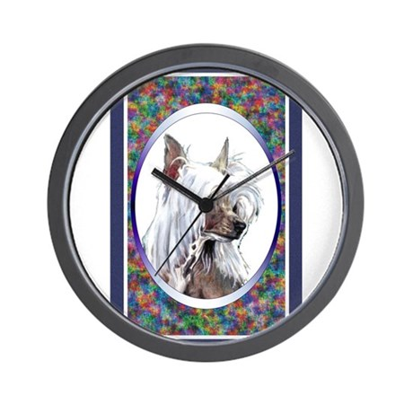 Chinese Crested Designer Wall Clock