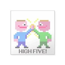 high five! square sticker