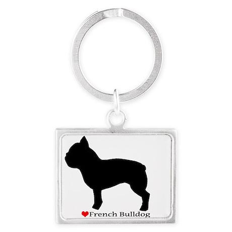 French Bulldog Silhouette Landscape Keychain