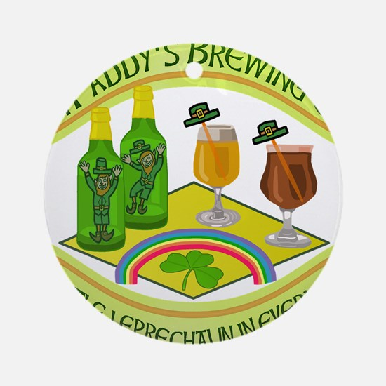 Funny Saint Patricks Day Leprechaun Brewery Orname