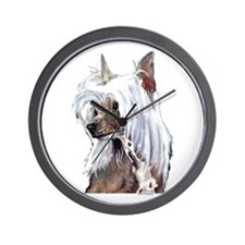 Chinese Crested Portrait Wall Clock