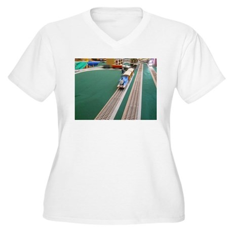 Famous Kids Train Set Plus Size T-Shirt