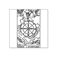 Wheel of Fortune Tarot Card Rectangle Sticker