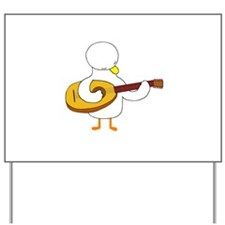 Lute Player Yard Sign