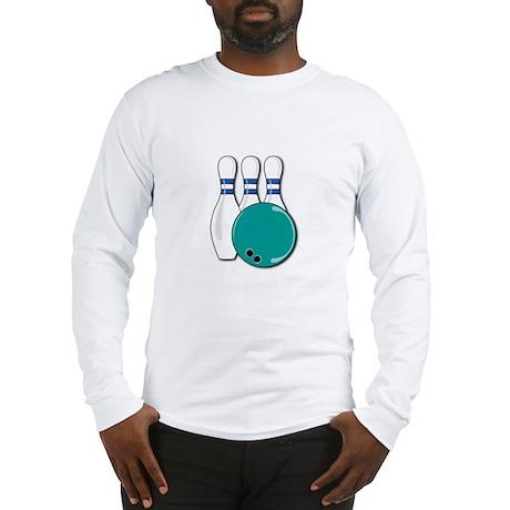 Bowling Ball and Pins Long Sleeve T-Shirt