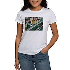 Train Speeding Through Town T-Shirt
