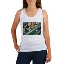 Train Speeding Through Town Tank Top