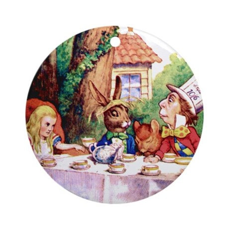 The Mad Hatter's Tea Party Ornament (Round)