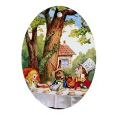 The Mad Hatter's Tea Party Ornament (Oval)